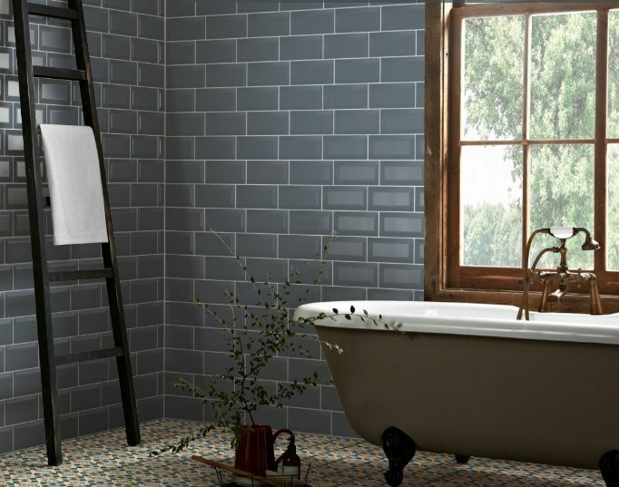 Sage Green Patterned Wall Tiles