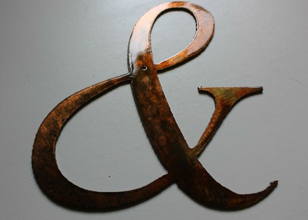 Sign copper bronze plated metal wall decor ebay for Copper wall art