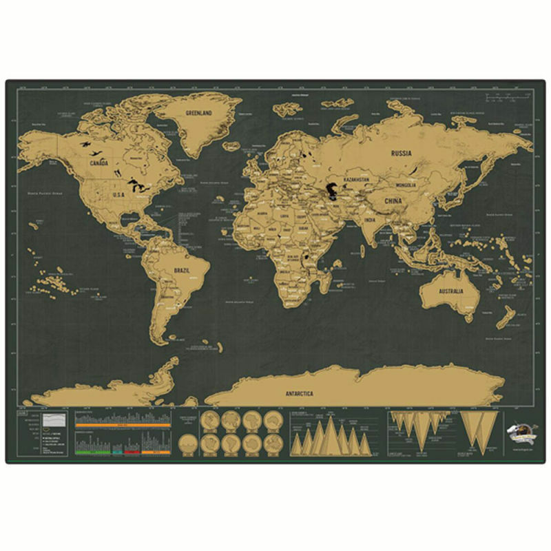 Deluxe Scratch Map TRAVEL EDITION Scratch Off Layer Personalised – Scratch Map Travel Edition