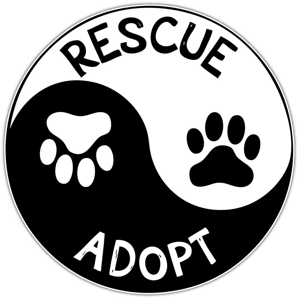 Sign & Poster Kits Pet Inside Sticker Static Cling Rescue ...  |Rescue Window Decals