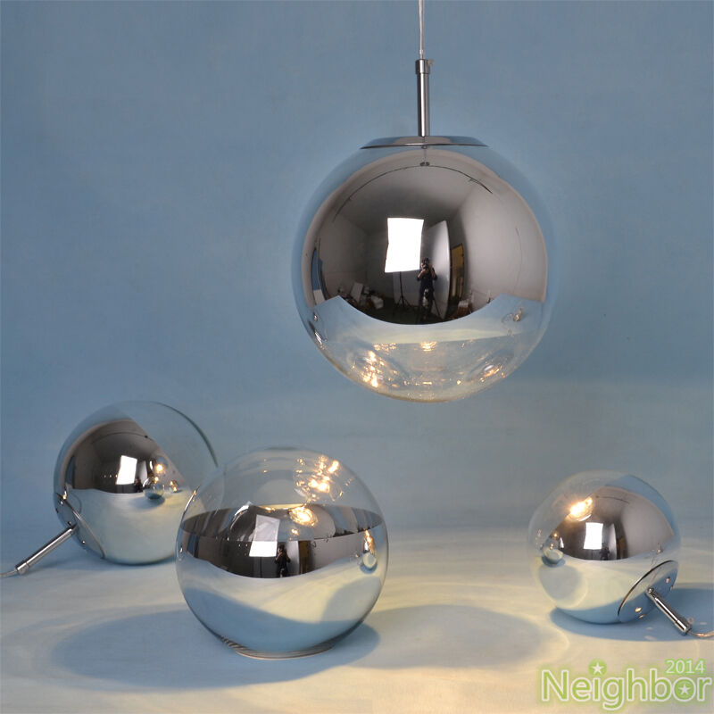 Tom Dixon Chrome Mirror Glass Ball Pendant Lamp Ceiling