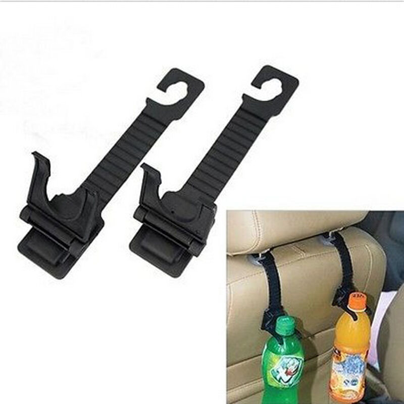 1 pair auto car seat back hanger bottle bag holder hook interior accessories ebay. Black Bedroom Furniture Sets. Home Design Ideas