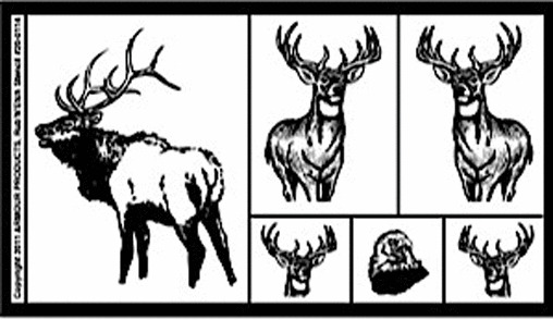 Armour rub 39 n 39 etch glass etching stencil sheet wildlife for Glass etching templates for free