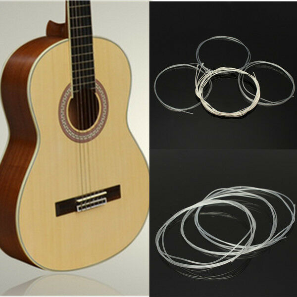 6pcs nylon string silver strings gauge set classical classic guitar acoustic us ebay. Black Bedroom Furniture Sets. Home Design Ideas