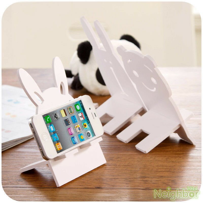 White Minimalist Phone Holder Table Stand Support For
