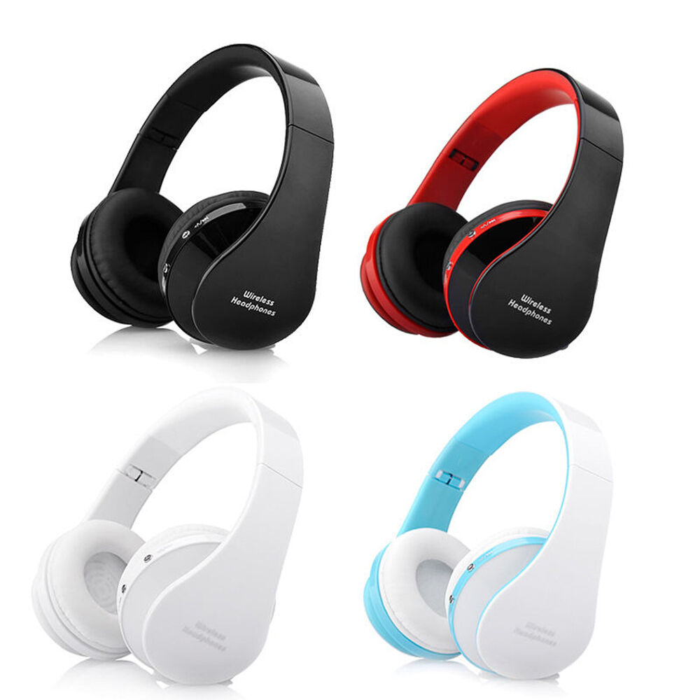 foldable wireless bluetooth headset stereo headphone earphone for iphone samsung ebay. Black Bedroom Furniture Sets. Home Design Ideas
