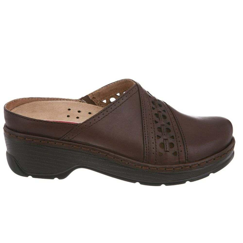 Klogs Shelby Womens Clogs Shoes Display Model Leather Coffee Smooth 9 W | EBay