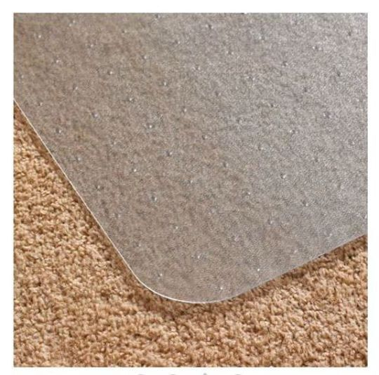 Office Chair Mat With Lip Desk Plastic For LOW PILE CARPET Clear Durable Roll