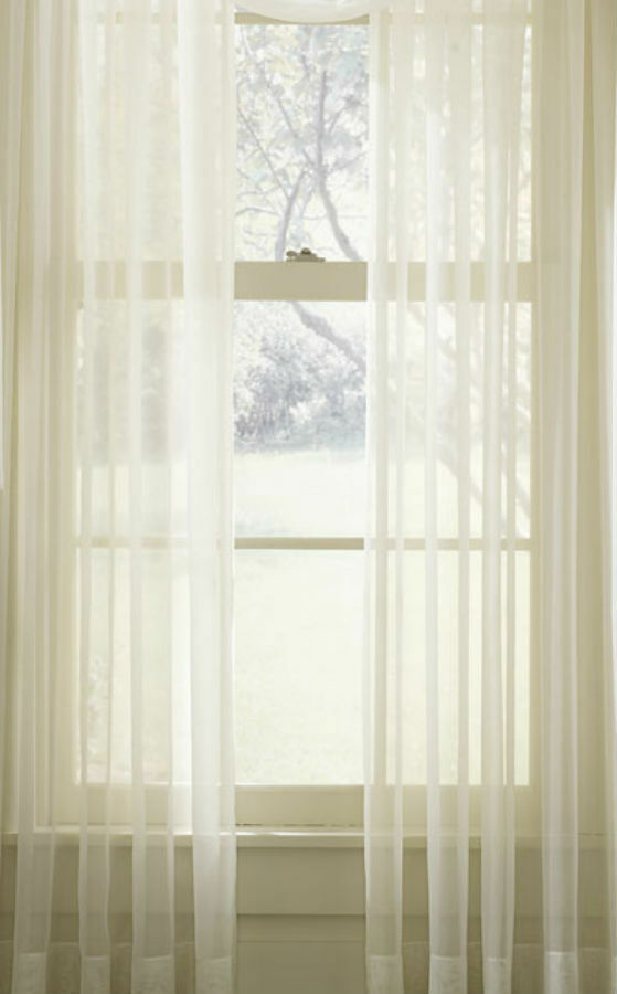 Plain Sheer Voile White Cream Net Sheer Curtain Panel Inc Extra Wide Extra Long Ebay