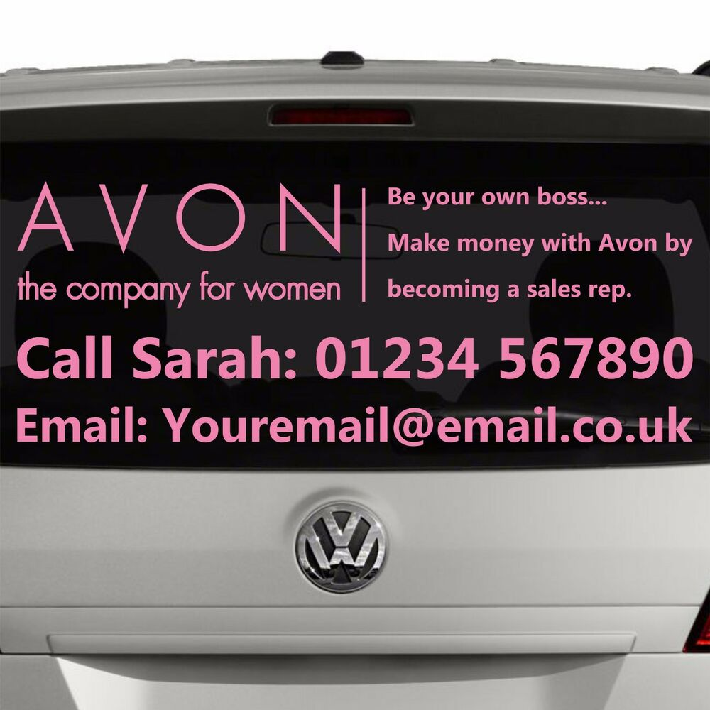 Design your own car sticker uk - Avon Rep Or Manager Window Advert Sticker Graphic For Car Business Si4 Ebay