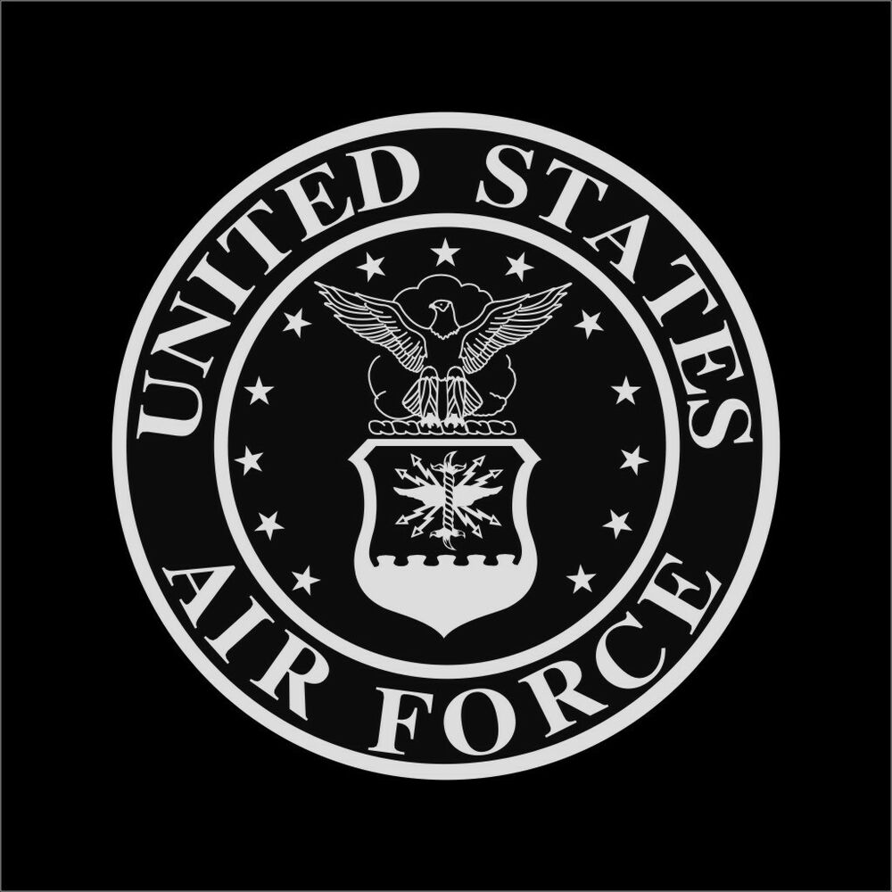 US Air Force Seal Vinyl Decal Sticker Window Wall Car eBayU.s. Air Force Logo Black And White