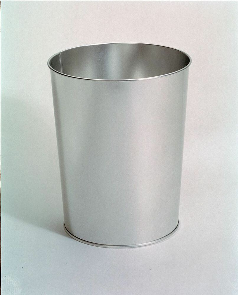 10 Quot 26cm Metal Silver Office Waste Paper Bin Trash Can