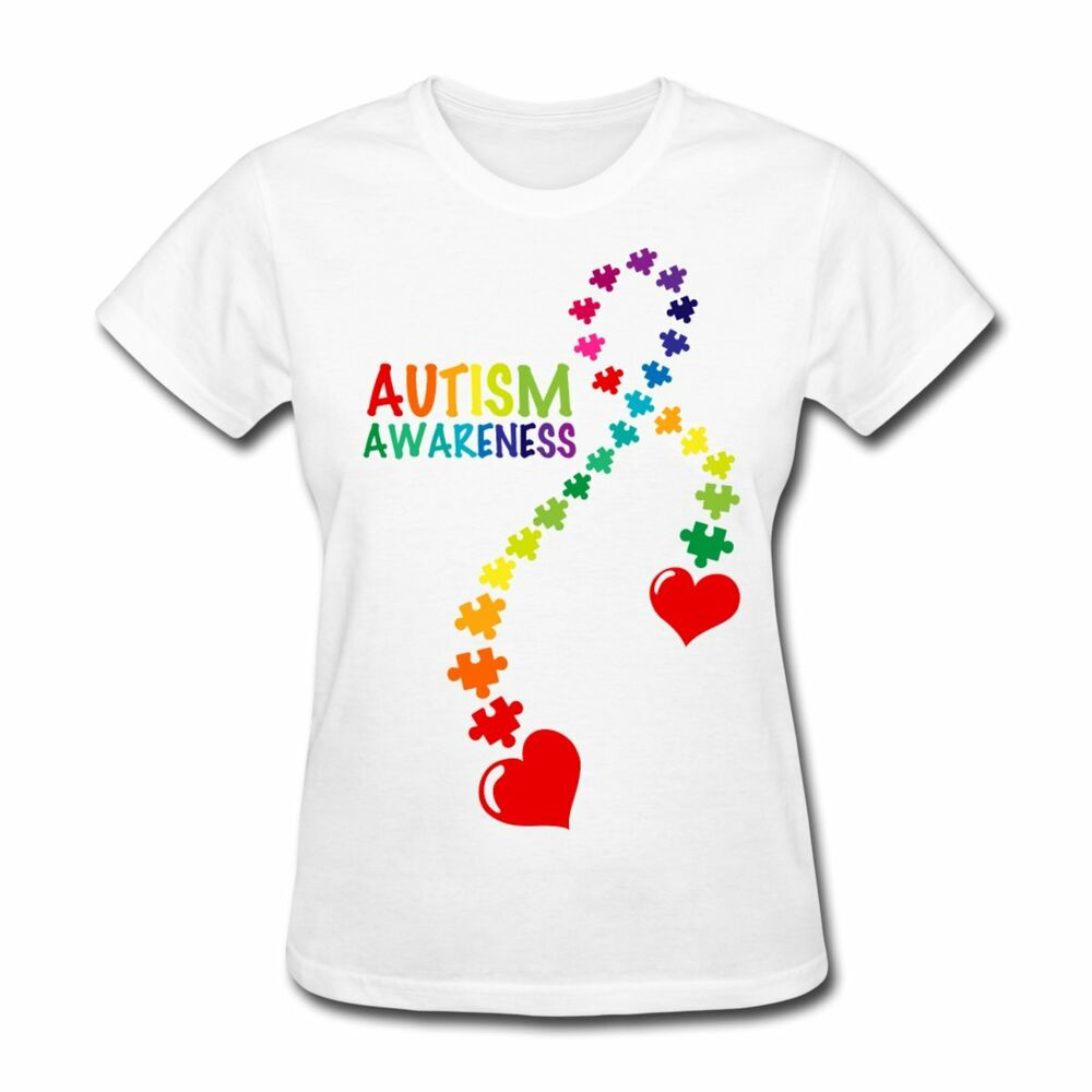 Autism Awareness Puzzle Piece Ribbon Women's T-Shirt by ...