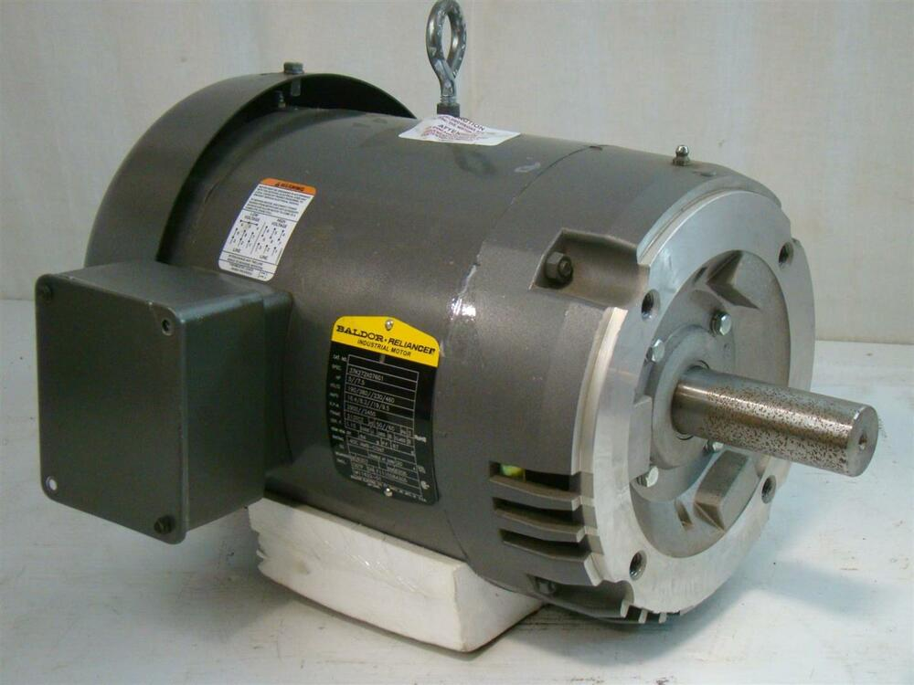 Baldor reliancer industrial motor 5 7 5hp 190 380 230 460v for Vfd for 5hp motor