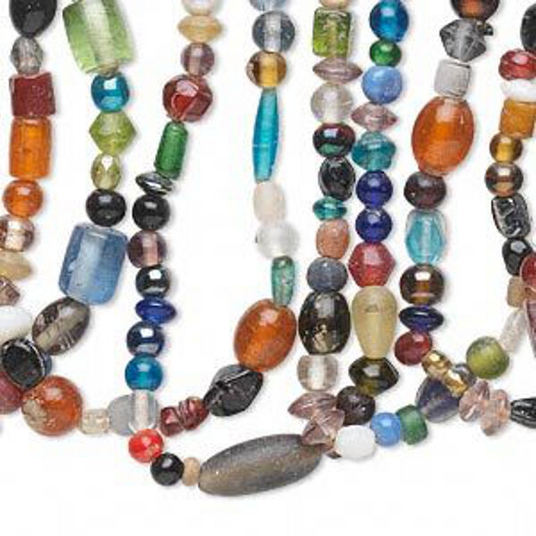 glass beads mix jewelry craft bulk 700 beads lot of 10