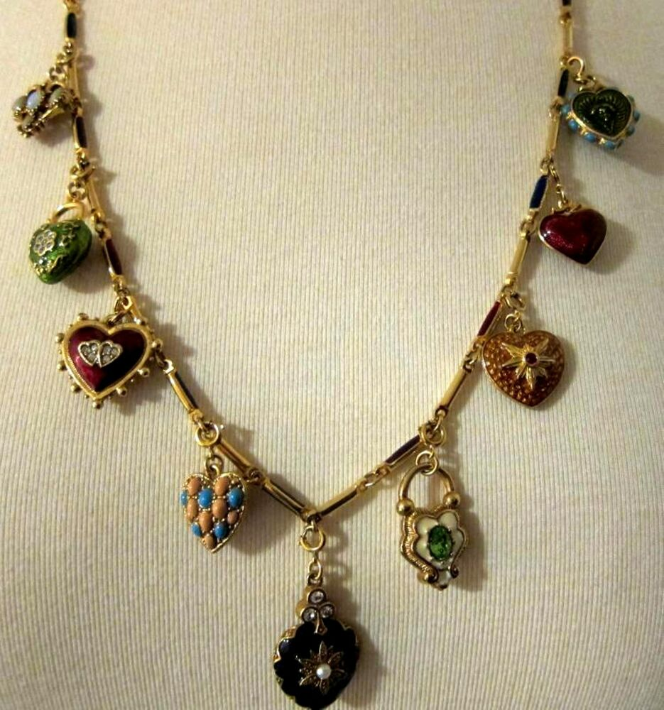 Joan rivers 25 necklace featuring 9 reversible heart for Joan rivers jewelry necklaces