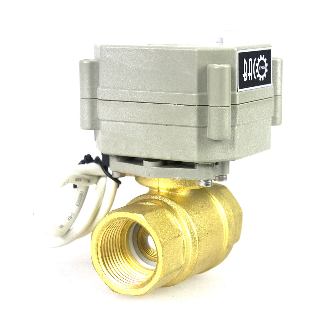 Bacoeng 1 2 to 1 1 4 2 way brass electrical motorized for 1 motorized ball valve
