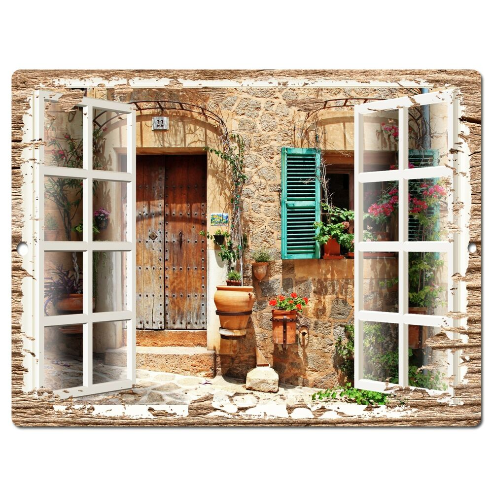 Kitchen Decor Stores: PP0603 French Window Scenery Chic Sign Shop Store Cafe