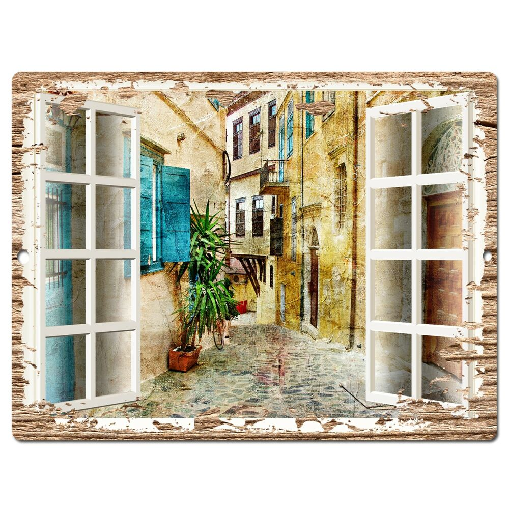 PP0605 French Window Scenery Chic Sign Shop Store Cafe