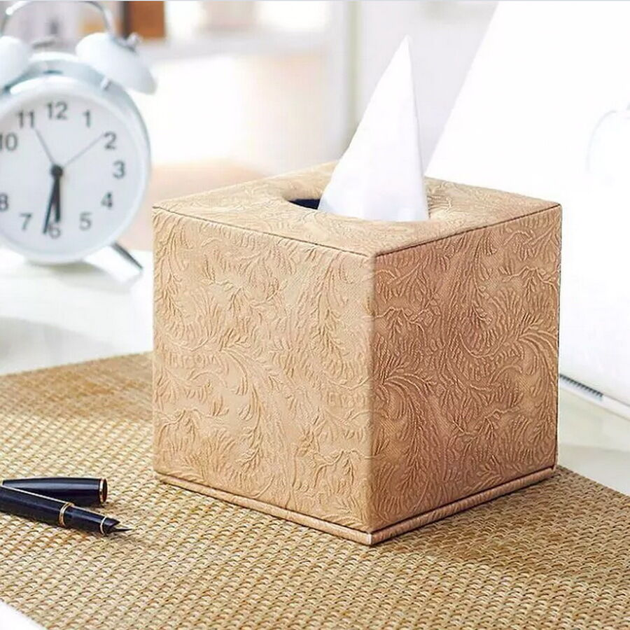 Creative European Pu Leather Tissue Box Cover Square Paper