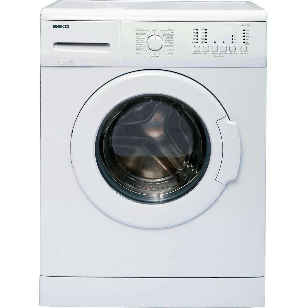 Beko wm72cpw a rated 7kg 1200 spin 15 programmes washing machine in white ebay - Washing machine for small spaces gallery ...