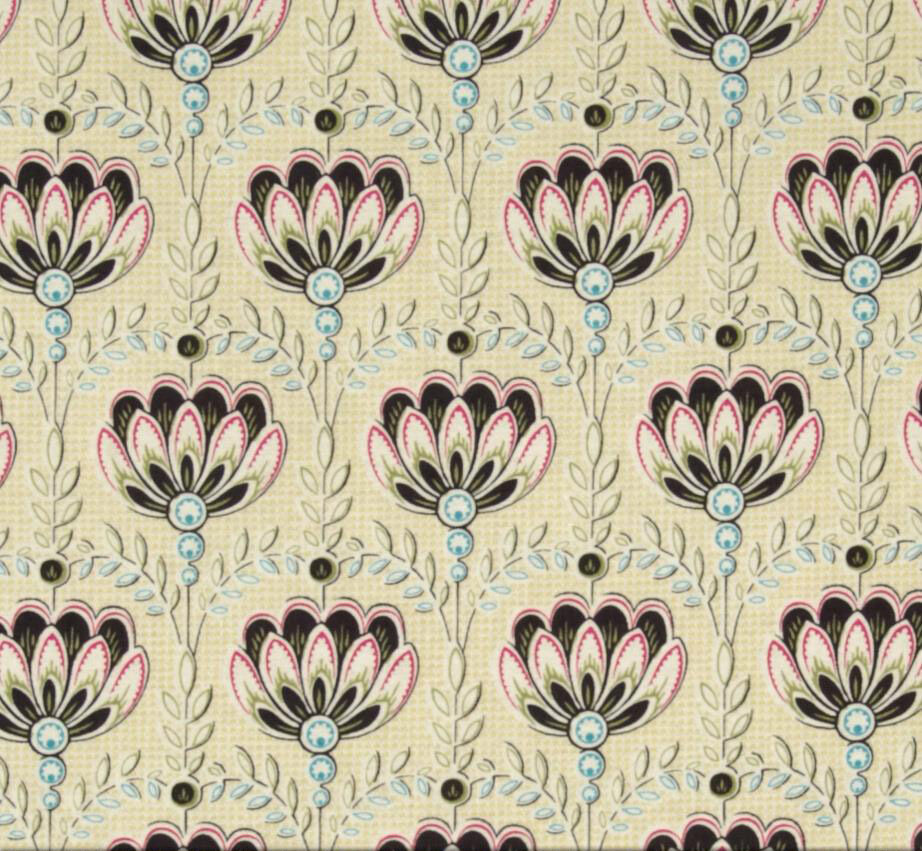 new anna griffin eleanor lotus flower fabric in ivory