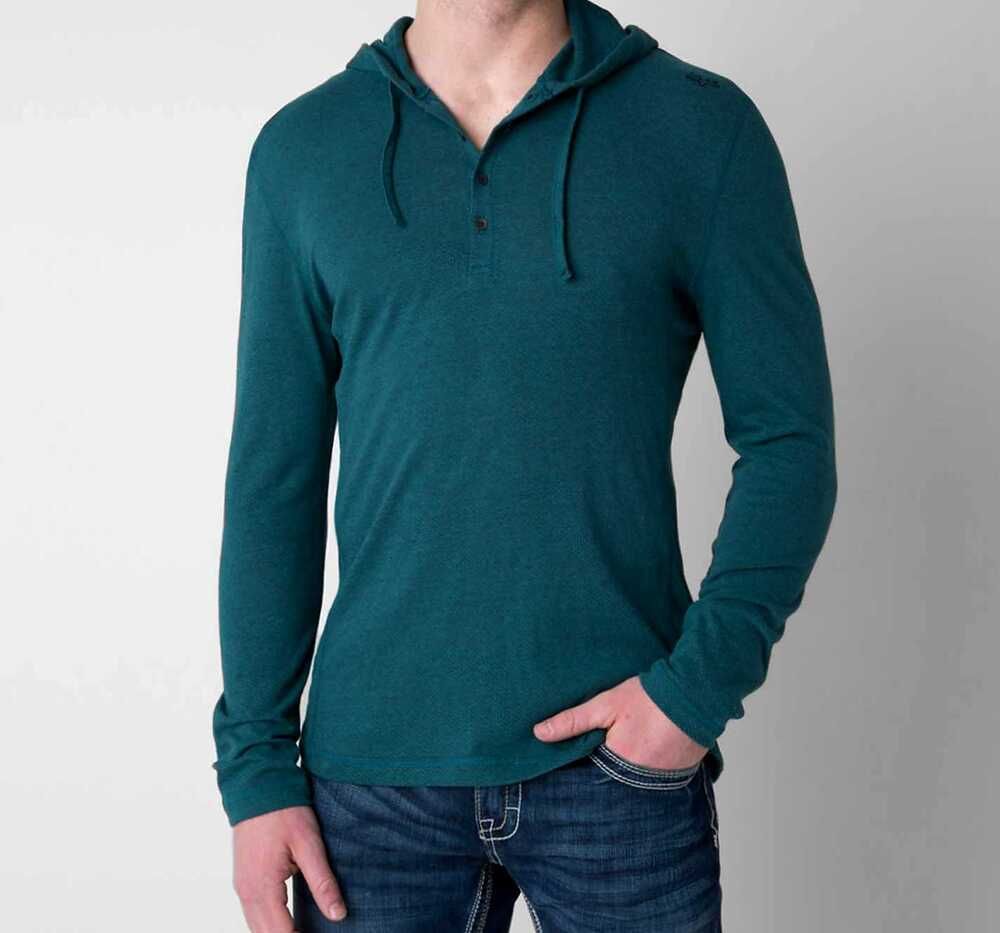 new mens fox faulter long sleeve knit henley shirt hoodie