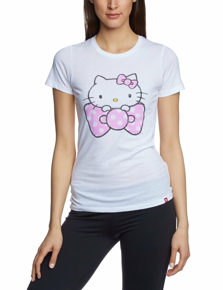 vans sanrio hello kitty tee shirt womens white xs t shirt nwt new polka dot new ebay. Black Bedroom Furniture Sets. Home Design Ideas