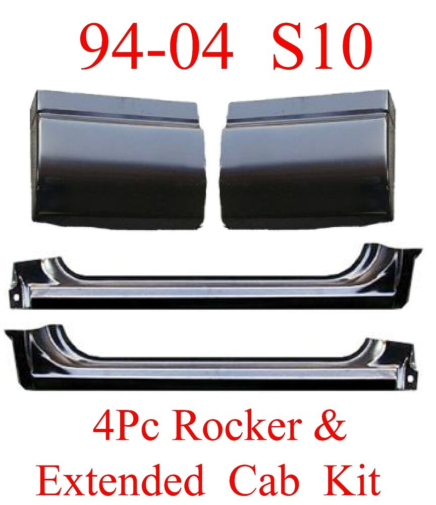 94 04 S10 4pc Extended Rockers Amp Extended Cab Corners Kit