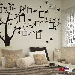 Kyпить Family Tree Wall Decal Sticker Large Vinyl Photo Picture Frame Removable Black на еВаy.соm