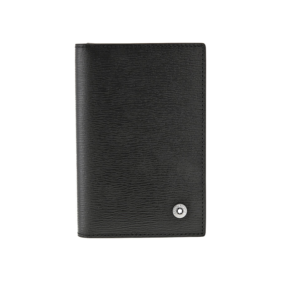 Montblanc westside black leather business card holder for Business card pouch