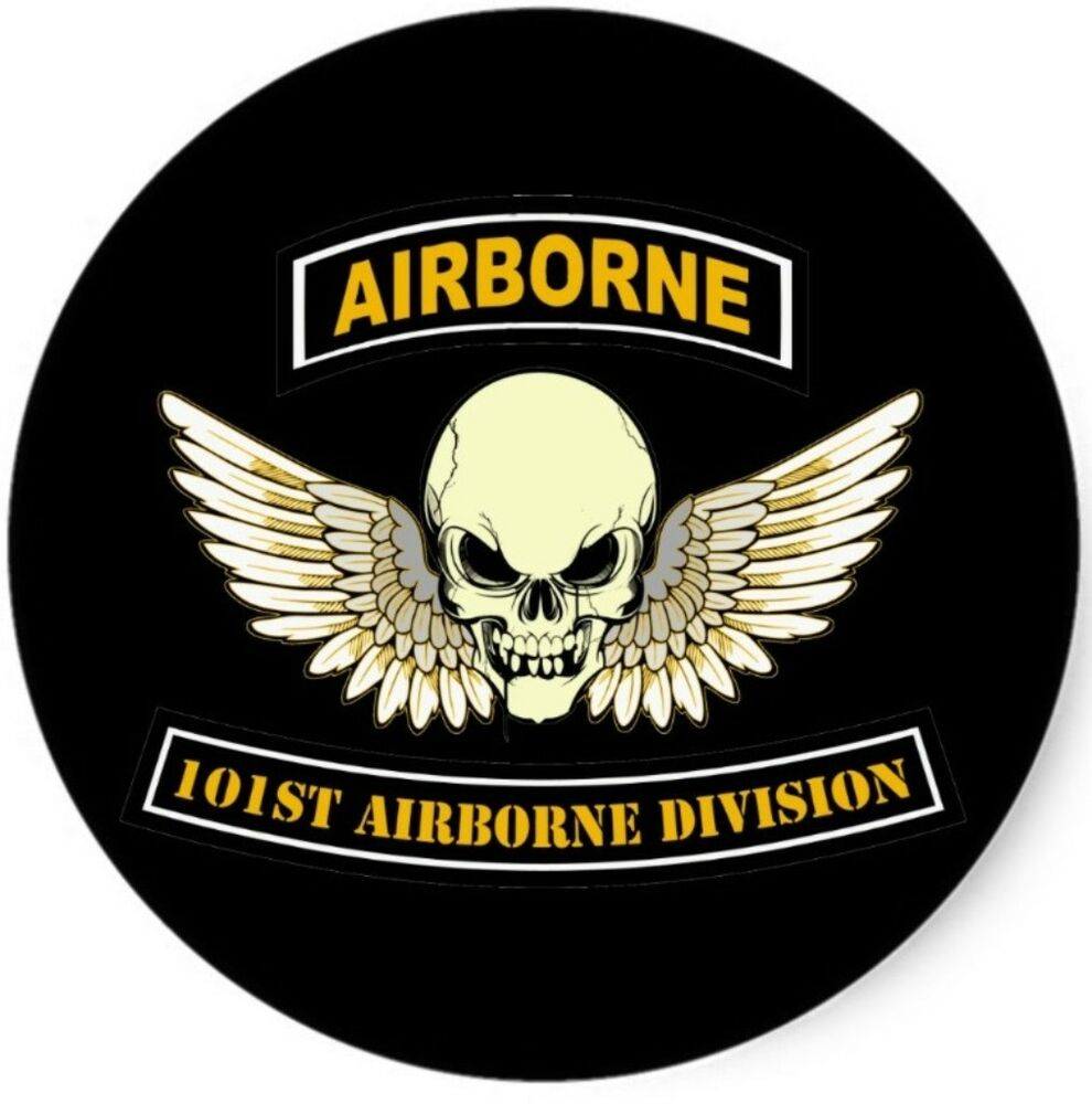 U s army 101st airborne skull wings wall window vinyl for 101st airborne window decals