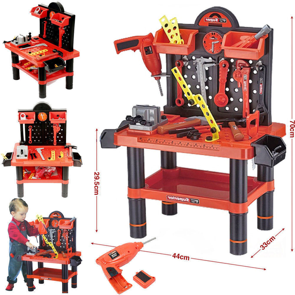 Childrens 54pc Tool Bench Play Set Work Shop Tools Kit Boys Kids Workbench Toy Ebay