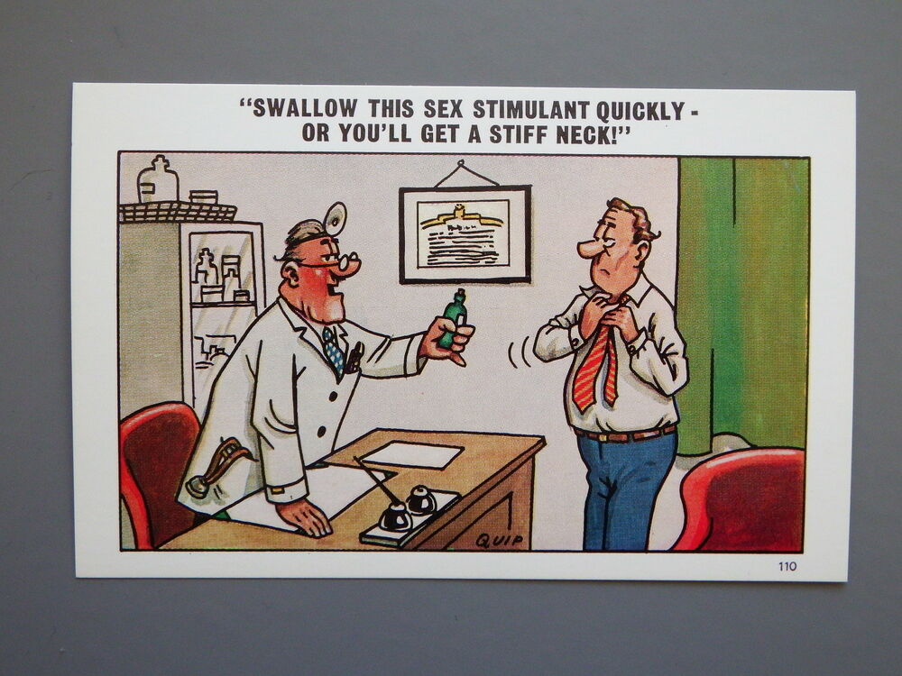 R&L Postcard: Comic, Quip, Doctor Male Impotence, Sexual