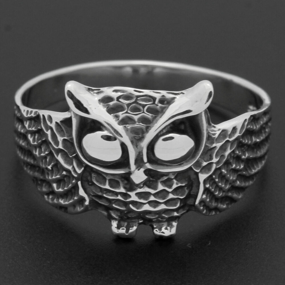 Sterling Silver Turqoise Owl Rings