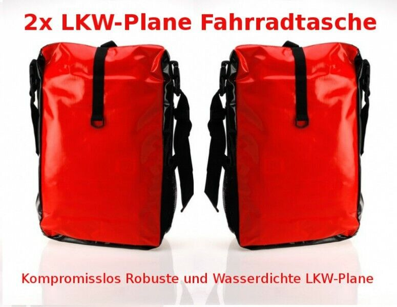 2x lkw plane fahrradtasche fahrrad gep cktr gertasche. Black Bedroom Furniture Sets. Home Design Ideas