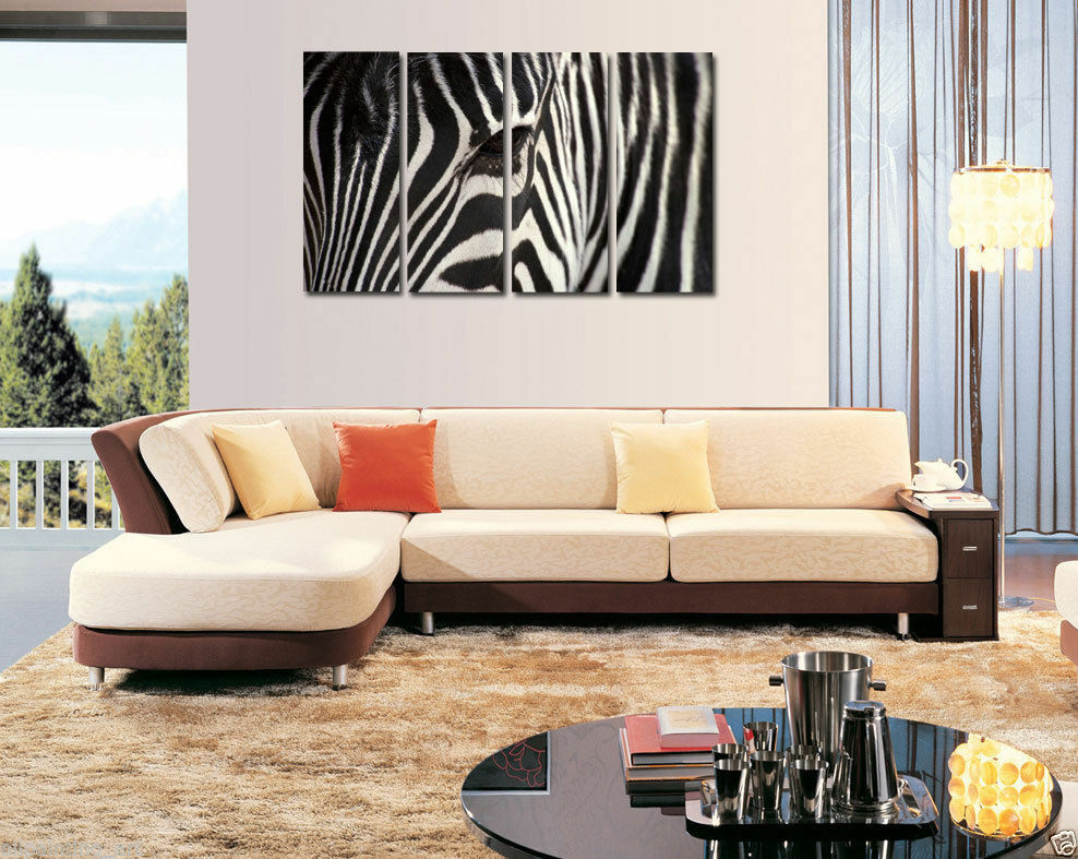 Hd Canvas Print Home Decor Wall Art Painting Animal Zebra