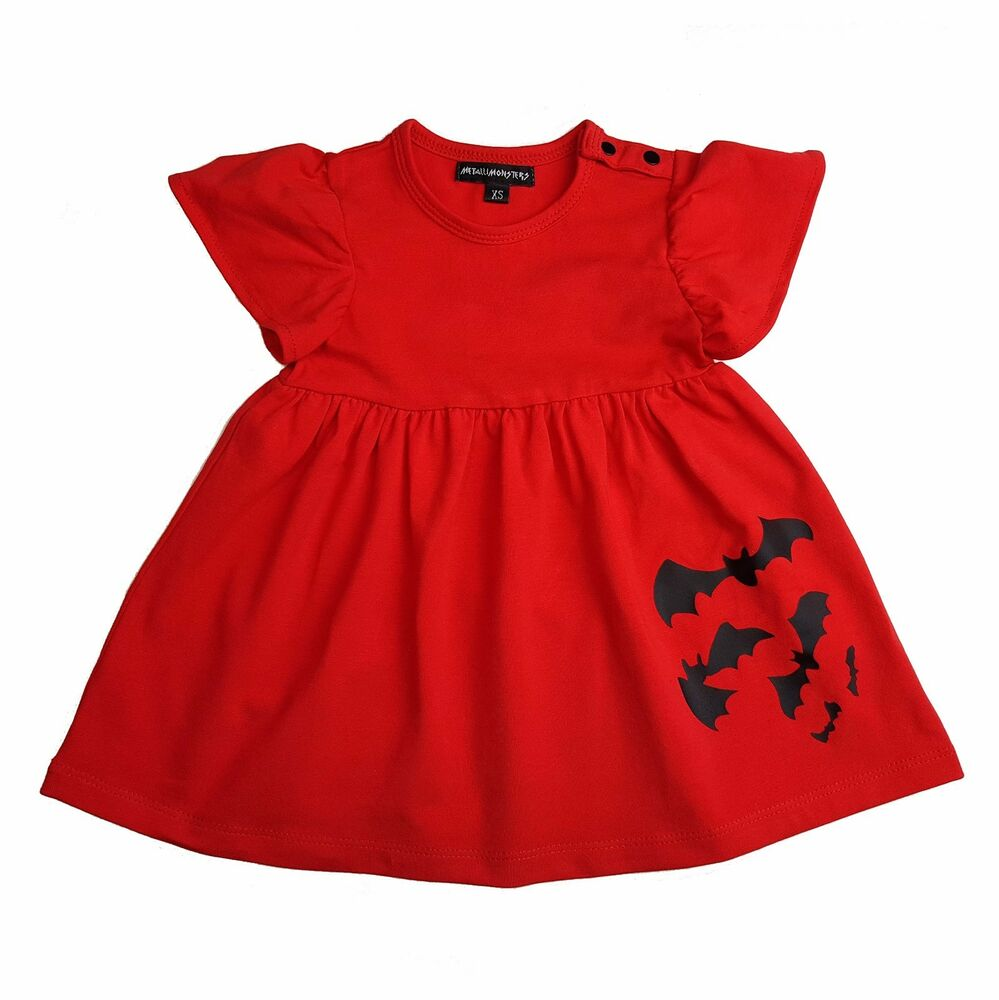 399aa3b57 Metallimonsters Red Bats dress alternative baby clothes goth punk ...