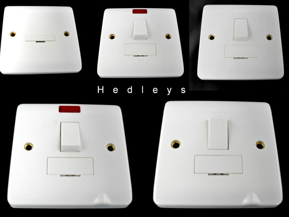 Modern Light Switches >> 13A Switched / Unswitched Fused Spur Connection Outlet ...