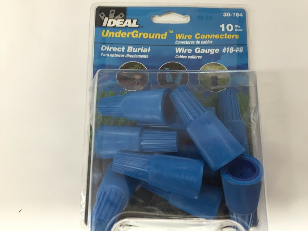 Qty-10 Ideal Underground Wire Connectors 30-764 Direct Burial Gauge ...