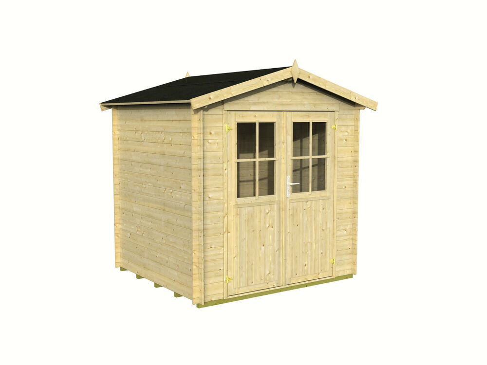 gartenhaus ca 200x200 cm ger tehaus 19 mm blockhaus schuppen holzhaus holz ebay. Black Bedroom Furniture Sets. Home Design Ideas