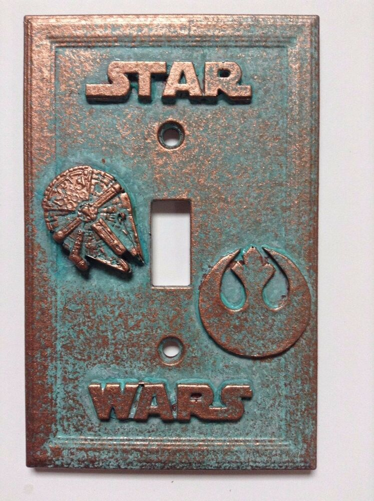 Star Wars Copper Patina Light Switch Cover Custom Ebay