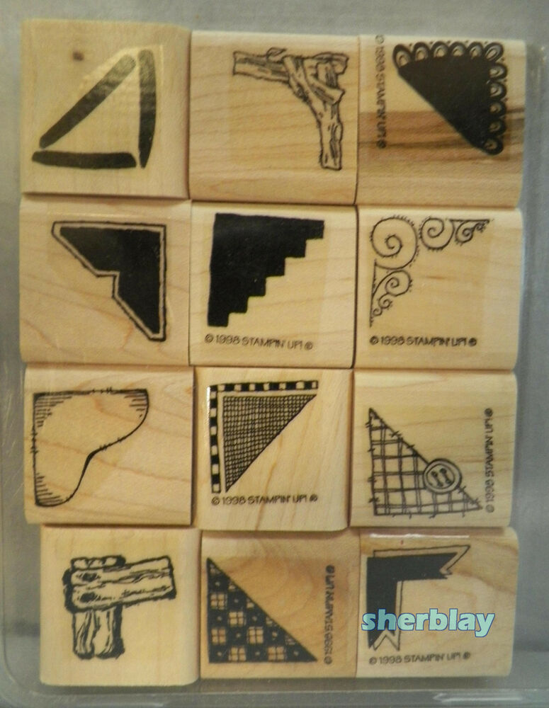 Stampin Up Rubber Stamps 1998 Creative Corners Set Of 12