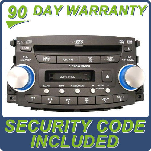 2004 04 Acura TL Radio Stereo 6 Disc Changer CD DVD Player