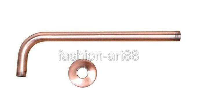 red copper shower head extension pipe 12 long wall cover shower arm fsh100 ebay. Black Bedroom Furniture Sets. Home Design Ideas
