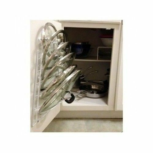 Kitchen Storage Door Cabinet Pot Lid Rack Cover Holder