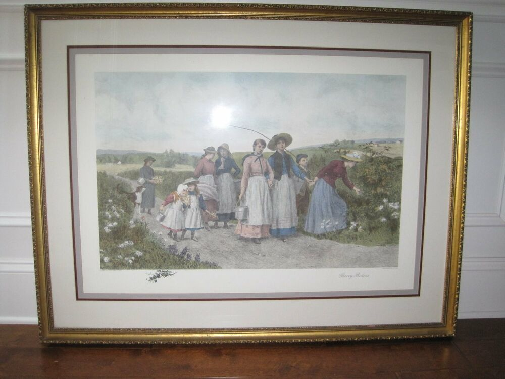 jennie brownscombe  u0026quot berry pickers u0026quot  after etching by j  s