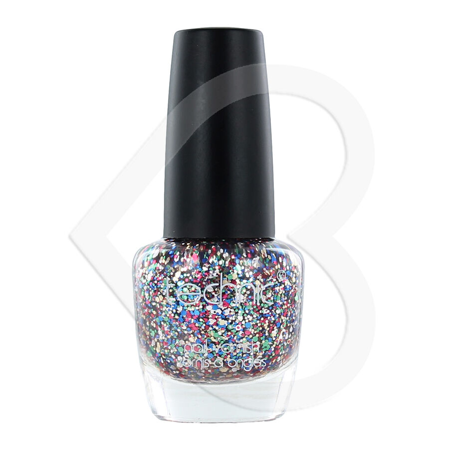 Shimmer And Sparkle Nail Polish: Technic Carnival Multi Colour Rainbow Glitter Nail Polish