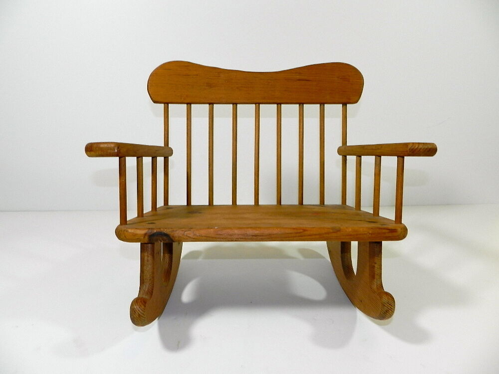 Doll Furniture Bench Rocking Chair Wood American Girl Doll