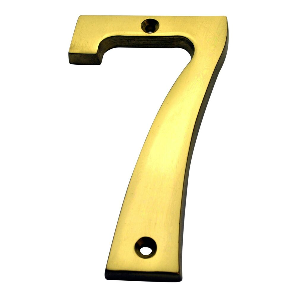 4 inch solid brass 7 house numbers home address plaque for House numbers